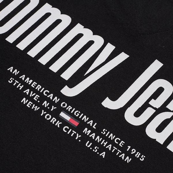 TOMMY JEANS TEXT BACK LOGO SS T-SHIRT BLACK