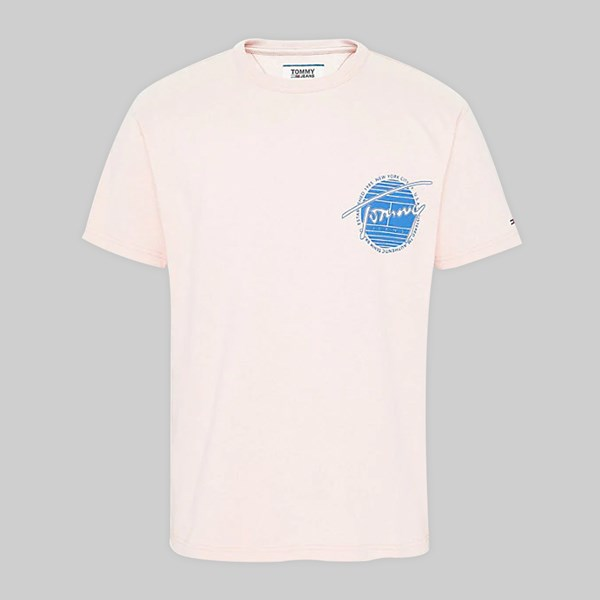97123aec TOMMY JEANS BACK GRAPHIC SS T-SHIRT PEACH SKIN | TOMMY ...