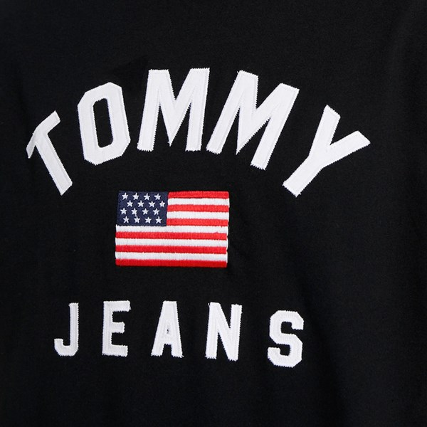 TOMMY JEANS USA FLAG SS T-SHIRT TOMMY BLACK