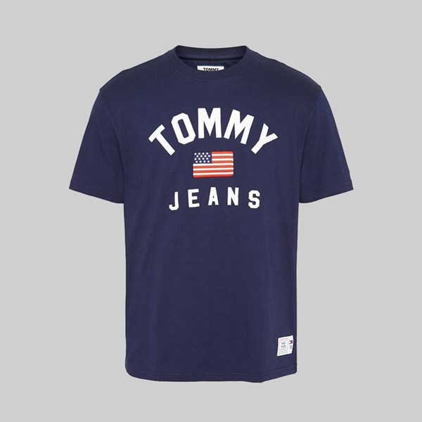 TOMMY JEANS USA FLAG SS T-SHIRT BLACK IRIS
