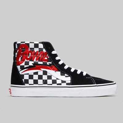 VANS X DAVID BOWIE CHECKERBOARD SK8-HI BLACK WHITE