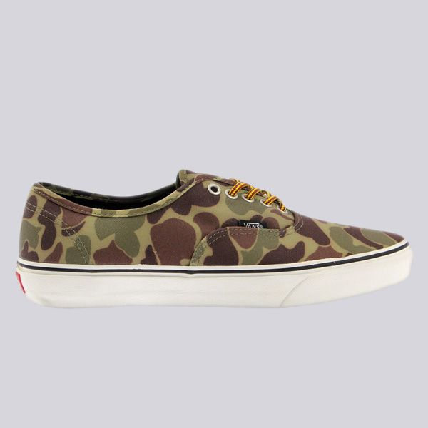 d78c4a3686 Vans Authentic Trainers Waxed Canvas Camo Marshmallow