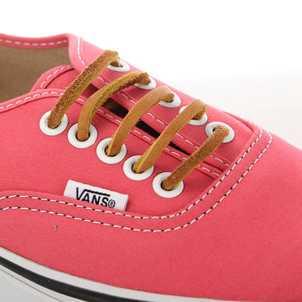 4d8fd0c9bf Vans Authentic Womens Trainers Brushed Twill Salmon True White ...