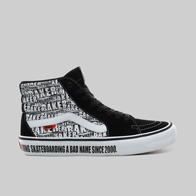 VANS X BAKER SKATEBOARDS SK8-HI BLACK WHITE