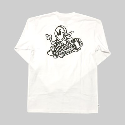 VANS GROSSO SKATE LONG SLEEVE SS T-SHIRT WHITE