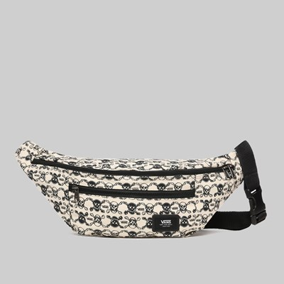VANS WARD CROSS BODY BAG SKULLS BLACK WHITE