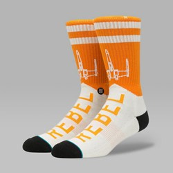 STANCE X STAR WARS VARSITY REBEL SOCKS ORANGE
