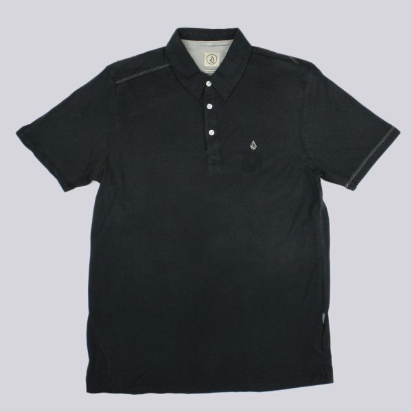 Volcom Wowzer Faded Polo Shirt Tinted Black