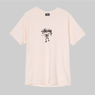 STUSSY WARRIOR MAN SS T-SHIRT PALE PINK