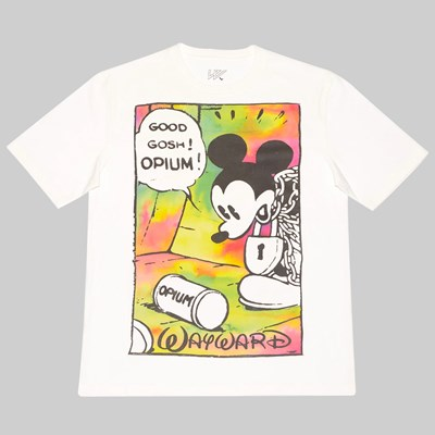 WAYWARD SKATEBOARDS OPIUM FLASHBACK SS TEE WHITE