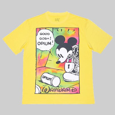 WAYWARD SKATEBOARDS OPIUM FLASHBACK SS TEE YELLOW