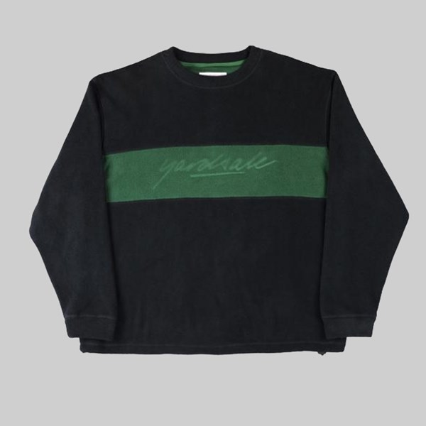 YARDSALE EMBOSSED FLEECE CREWNECK BLACK
