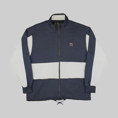 YARDSALE DRAW STRING FULL ZIP NAVY WHITE