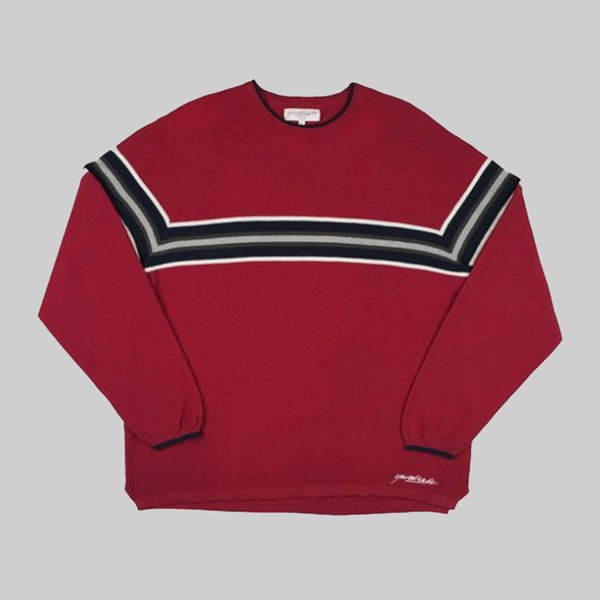 YARDSALE AIRWAY KNIT LONG SLEEVE RED