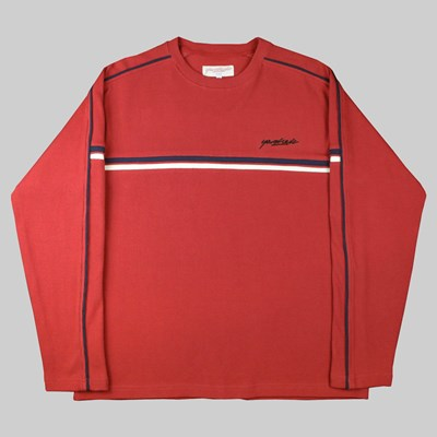 YARDSALE CALI RIBBED SWEATER CARDINAL