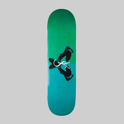 YARDSALE SKATEBOARDS UTOPIA DECK EMERALD 8.5 INCH
