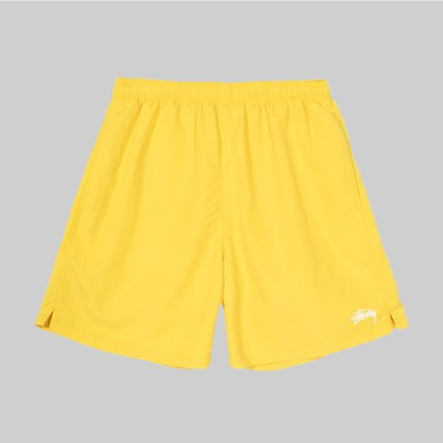 STUSSY STOCK LOGO WATER SHORT YELLOW