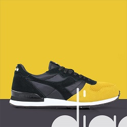 DIADORA CAMERO DOUBLE BLACK GOLDEN